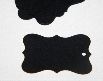 250 Chalkboard Tags - perfect for wedding favor tags - gift tags - jar tags - black chalkboard tags