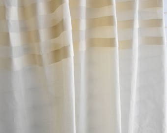 "Organic pleated voile curtain - 60"" Wide"
