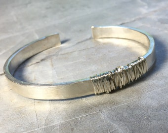 Entwined Sterling Cuff