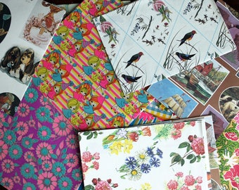 Vintage Assorted Gift Wrap Paper Box Set Of Present Wrapping