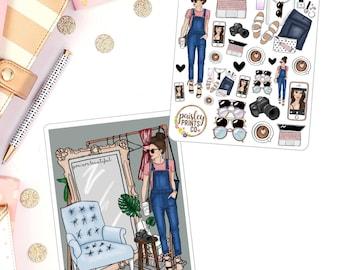 GirlBoss Deco & Double Full Box Add-On Option Planner Stickers GirlBoss Planner Stickers Deco Laptop Fashion