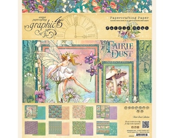 Graphic 45 Fairie Dust Collection 8 x 8 Paper Pad