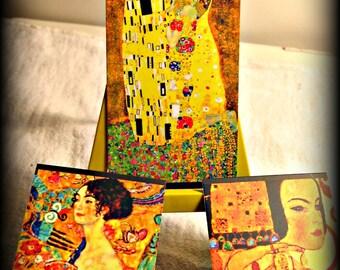 Mini Easel Art Set - Gustav Klimt Art (shipping included)