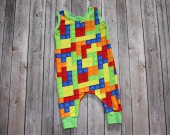 Baby Romper,Building Blocks,Toddler Romper,Baby Jumper,Summer Romper,Baby Boy Romper,Newborn Romper,Romper Baby Boy,Romper Baby Girl