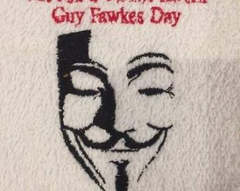 guy fawkes bar towel