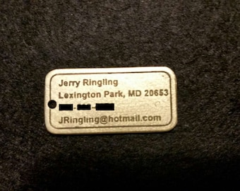 Small ID Tag, custom made to order