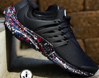 Custom Nike 'Splatter' Prestos - Nike Custom Design - Nike shoes - Paint Color Jackson Pollock