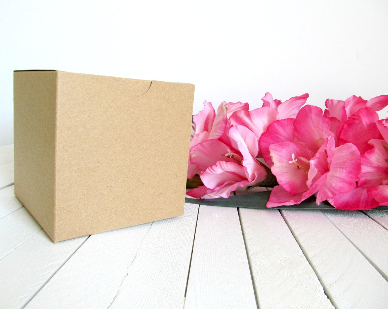 Set of 50 Kraft 4 x 4 x 4 Gift Boxes
