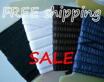 50% SALE 10m Pleated STRAPS elastic Choose Color FREE Shipping by Merckwaerdigh