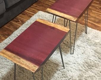 purple heart wood furniture. Purple Heart Wood Furniture. Live Edge End Tables Furniture R