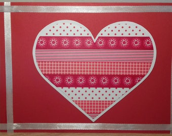Handmade Washi Tape Valentines Card