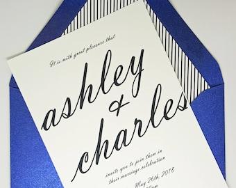 Wedding Invitations, Simple Wedding Invitation, Wedding Invites, Wedding Invitation Set, Invitations Wedding, Wedding Invitation,Calligraphy