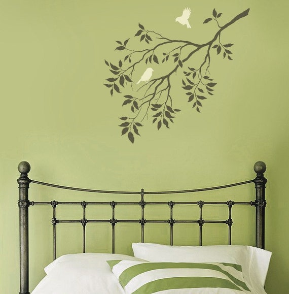 Birds on a Branch Wall Stencil Reusable Stencils for Walls