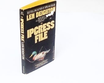 The Ipcress File: Len Deighton  (1982, Ballantine) Vintage Spy Thriller