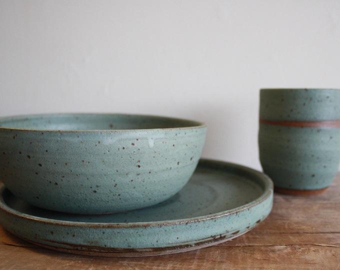 Dinnerware Set - Dinner Plate - Dinner Bowl - Tumbler - Handmade - KJ Pottery