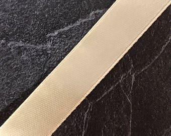 Piece by the yard - beige satin ribbon