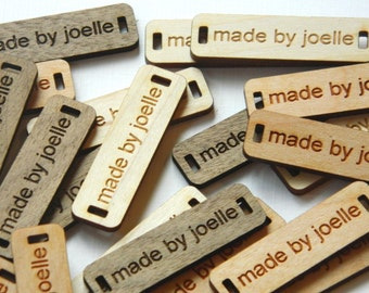 100 Product Tags -  0.5 x 1.75 Inches - laser cut and engraved