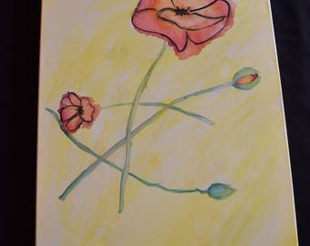Watercolor Painting- Poppies