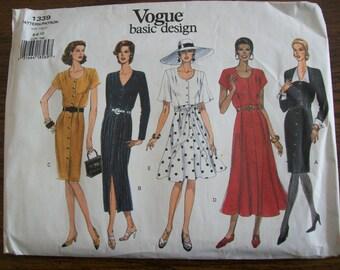 Ladies Dress, Ladies Basic Design Dress, Vogue 1339,