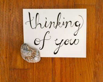 Thinking Of You Handwritten Calligraphy Greeting Card