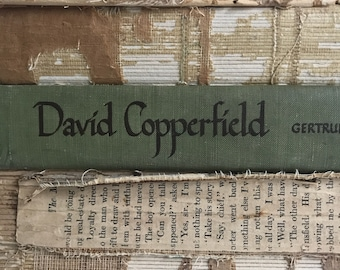 David Copperfield - Vintage hardcover green book - ex library copy