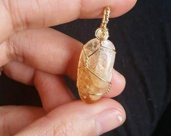 Citrine Pendant with Pachamama