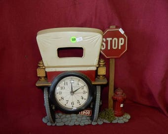 Vintage Plastic Car Themed Wall Clock