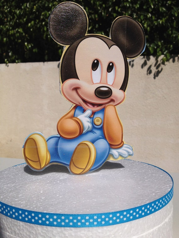 Baby Mickey Mouse Cake Topper for Baby Shower or 1st Birthday