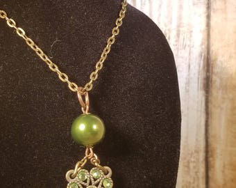 Green Filigree Necklace