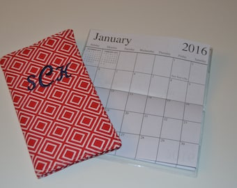 Personalized 2yr. Calendar 2018-2019(Red) Included 2017-2018 Calendar while supplies last
