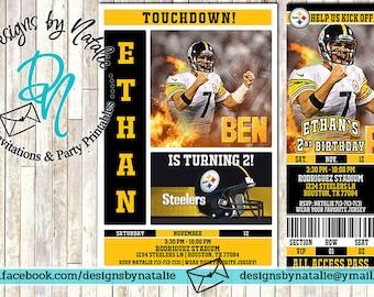 Pittsburgh Steelers Football Invitation