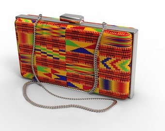 Customised African Print / Bridal/Prom/ Red Carpet Clutch Bag