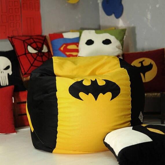 Batman Bean Bag Cover Chair Lounge Gift Furniture Comic Justice League Main Inner NO Beans