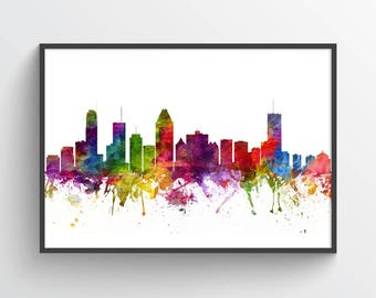 Montreal Skyline Poster, Montreal Wall Decor, Montreal Print, Montreal Art, Montreal Decor, Home Decor, Gift Idea, CAQCMO06P