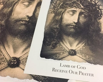 Jesus Christ Lamb of God Receive Our Prayer Inspirational Devotional 11x17 or 8.5x11 inches Digital Poster