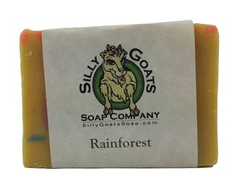 Rainforest - Goat Milk Soap, Natural Essential Oil Blend, Goats Milk Soap