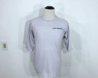 80's vintage pacific para-sail 50/50 blend 3/4 sleeve t-shirt size L