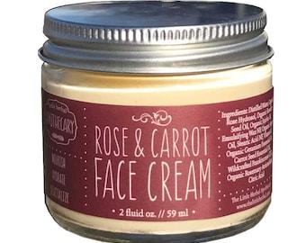 Face Cream, Organic, Moisturizer, Antioxidants, Anti-Aging, Rosehip Seed Oil, Carrot Seed, Argan Oil, Geranium