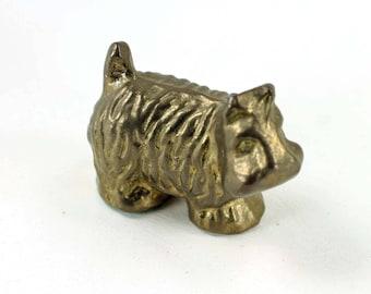 Vintage Brass Scottish Terrier Scottie Dog or Scotty Dog