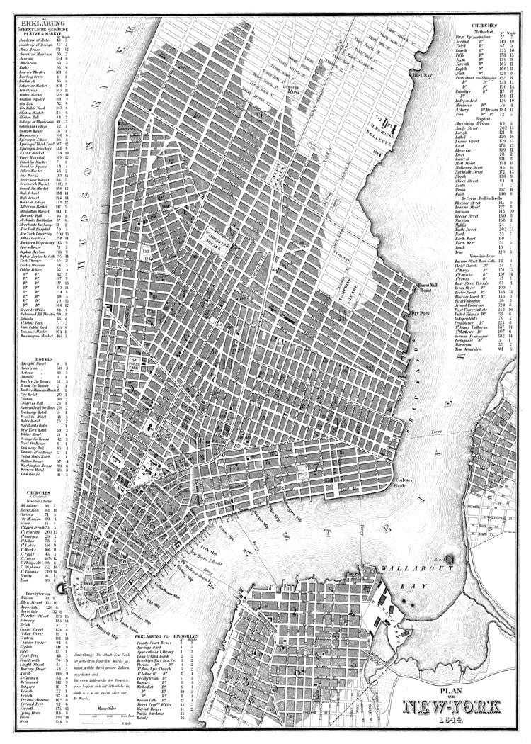 new york city map new york city manhattan street map