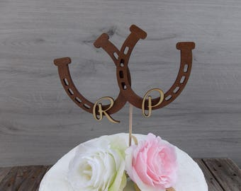 cake topper horseshoes - wedding  cake topper  marriage  wedding decoration  wedding accessoires