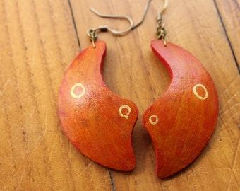 Orecchini di zucca/Gourd Earrings Abstract Design Collection 2018 (Orange/Gold)