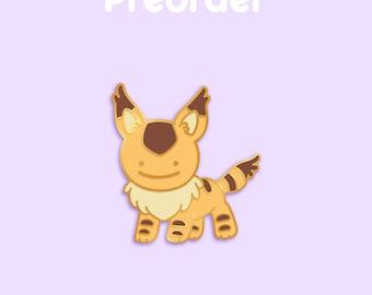 PREORDER TETO Ditto x Anime Movie Enamel Pin [Studio Ghibli Nausicaä of the Valley of the Wind Fox Squirrel Film Pokemon Parody Flair Badge]