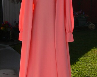 emma doml pink long dress size 12 union label