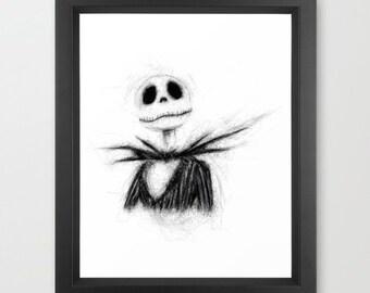 Jack INSTANT DOWNLOAD - The Nightmare Before Christmas, Pumpkin king, holiday, Halloween, Christmas, digital, downloadable, Disney
