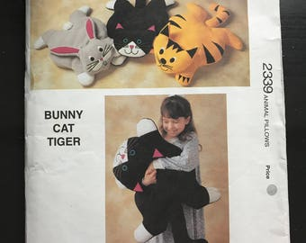 Kwik Sew 2339 - Bunny, Cat, and Tiger Oversized Plush Toys