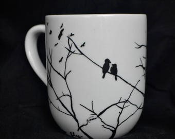 BlackBirds and Branches Mug