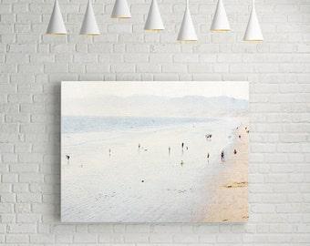 Large Canvas Art // Canvas Print // Santa Monica Beach Photography // Los Angeles Photography // Large Beach Canvas // Large Wall Art