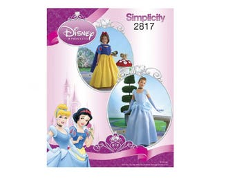 Simplicity  2817 - Disney Princess Costumes for Children & Girls