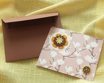 Floral greeting card envelope